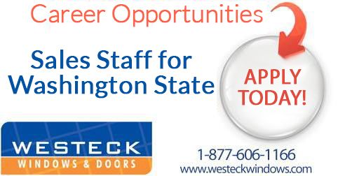 New! *CAREER OPPORTUNITIES at Westeck Windows and Doors* We are recruiting Sales Staff who are required for direct manufacturer to custom home builders in the ‪#‎Washington‬ State. For more information and to apply, please click the link below. ‪#‎jobs‬ ‪#‎careers‬