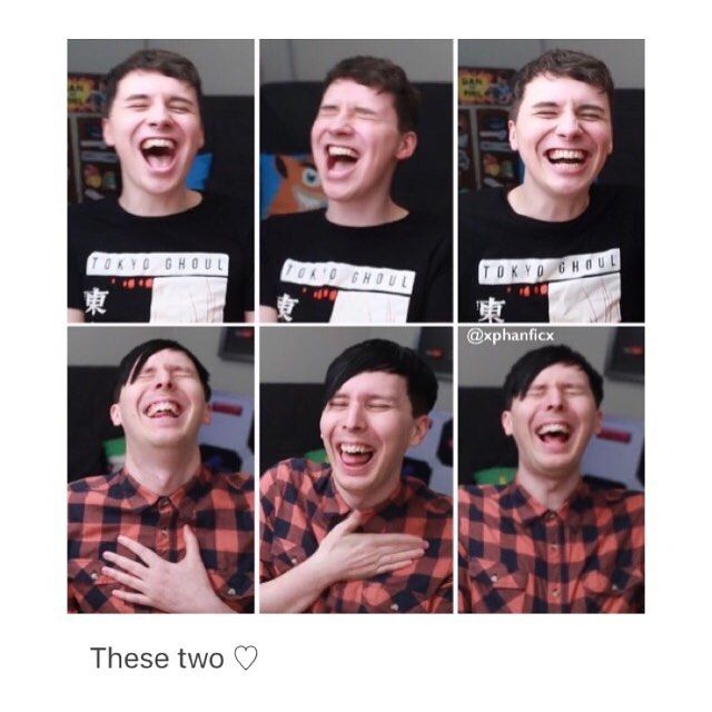 Dan and Phil genuinely laughing put a huge smile on my face.
