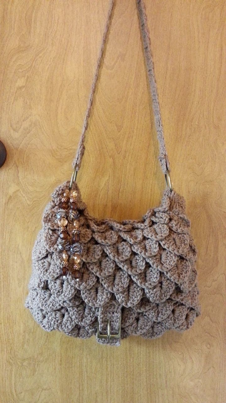 How to #Crochet Crocodile stitch Handbag Purse #TUTORIAL