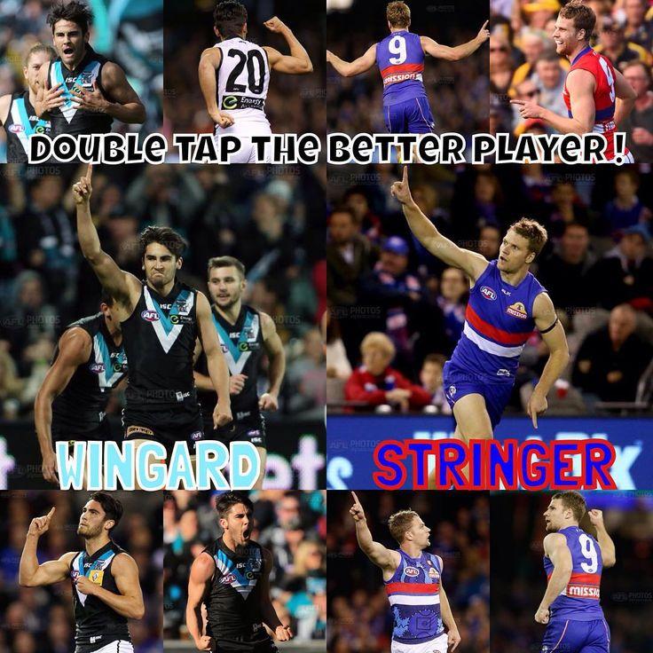"""Double Tap The Better Player! Chad Wingard or Jake Stringer? #AFL #Wingard #Stringer"" stringer"