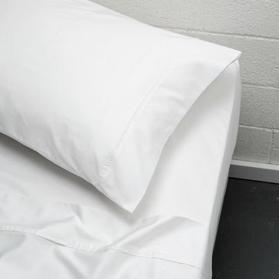 410 TC King bed cotton sheet set White