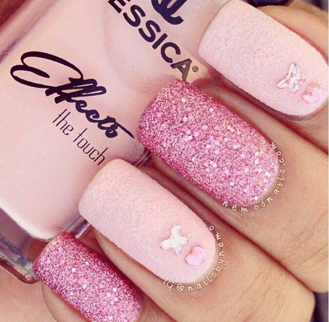 Pink And Blue Glitter Nail Polish: Pink Glitter Nail Polish
