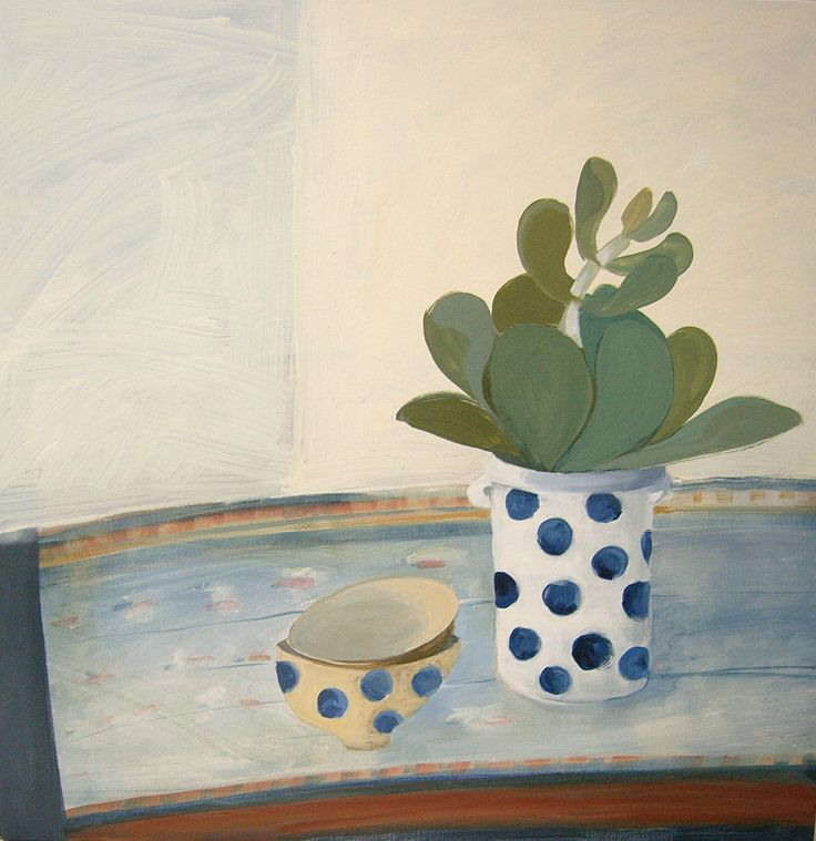 still life with spotted jar  and bowls