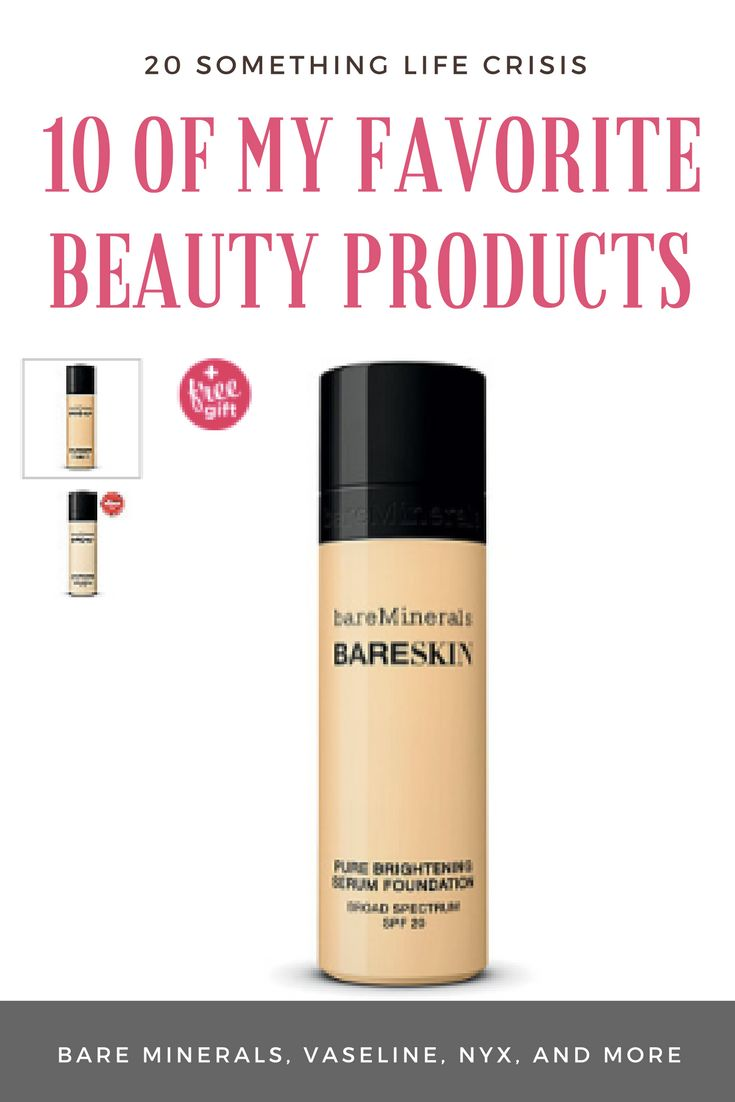 10 of my favorite beauty products || 20somethinglifecrisis.com || bare minerals, concealer, foundation, skinceuticals, best facewash and toner, better than sex mascara, vaseline for acne scars.