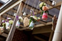 hanging flower jars & candles - Our rustic DIY backyard wedding - Mornington Peninsula - by Ink Hearts Paper www.inkheartspaper.com.au