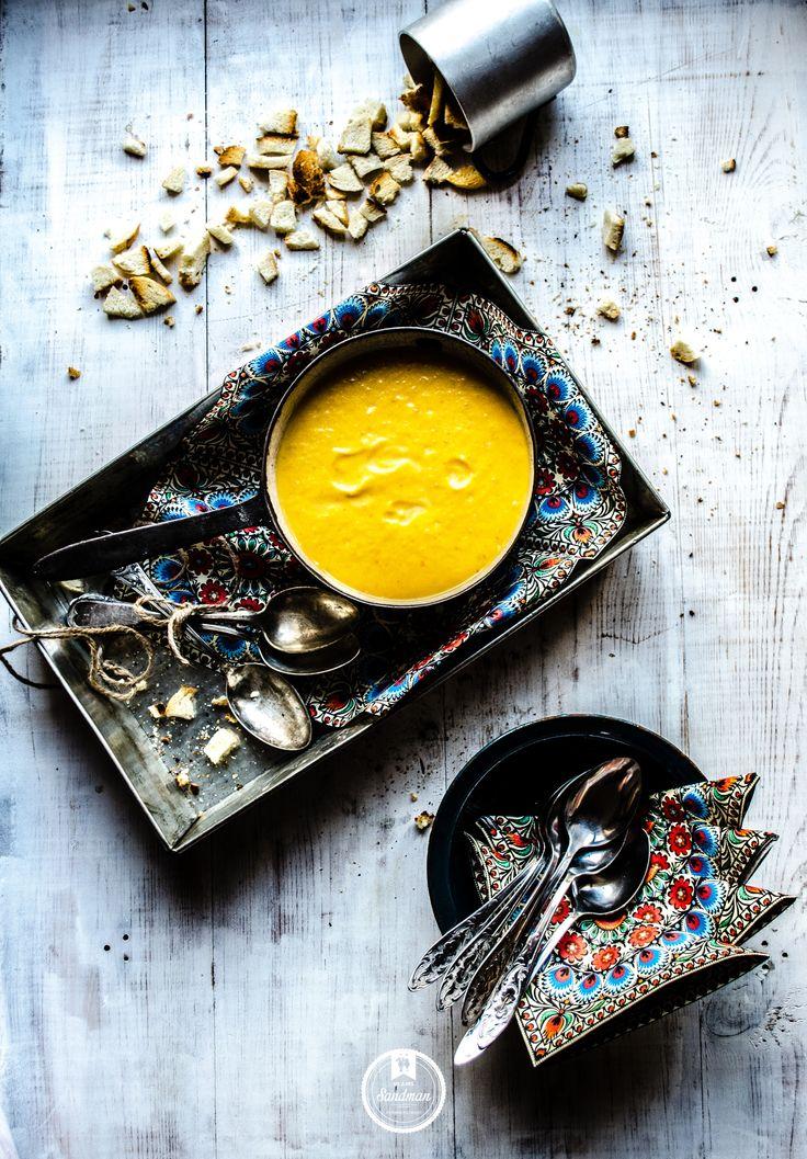 zupa krem z pieczonej dyni // roasted #pumpkin #soup