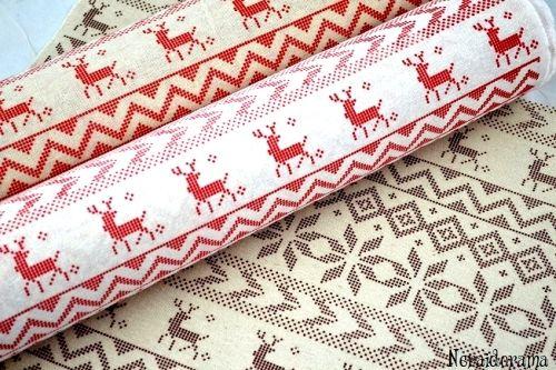 Χριστουγεννιάτικο ύφασμα  Deer