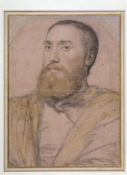 Hans Holbein - Portrait of an Unknown Man, possibily identifiable as Thomas Seymour (c.1508-49), ca. 1535-40.