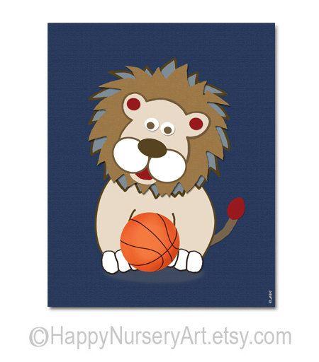 Basketball nursery decor Sports Nursery Wall by HappyNurseryArt