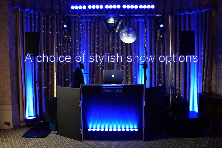 You can choose what style of show that you want for your wedding - DJ Martin Lake