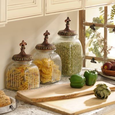 1000 images about tuscan canisters set on pinterest for Kitchen set elegan