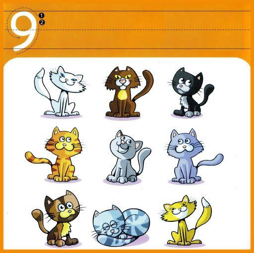 * Cijfer/schrijfkaarten 9-10