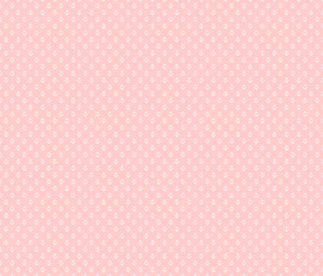 Light Pink Anchors fabric by sweetzoeshop on Spoonflower - custom fabric