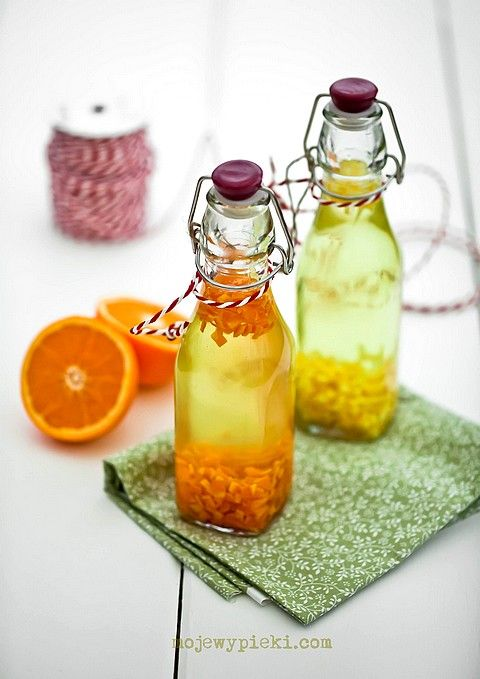 Orange and lemon extract for the holiday baking. Ingredients for 1 extract (250ml): peel from the large orange, lemon or lime (eat the fruit :), 125ml of vodka, 125ml of water. Scrub it good in a hot water. Peel the skin off and remove all the white parts. Finely chop it, drop it into the jar and cover with water mixed with vodka, shake and put it in the dark, dry place (not in the fridge). The extract is ready for use after 7 days, but after 2 months is full of flavor. Shelf life: 1…