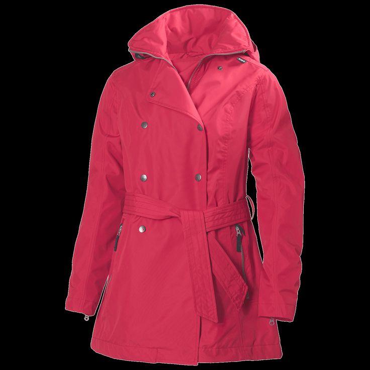 Helly Hansenin Welsey Trench -takki on täysin sateenkestävä ja kaunis kuin mikä. Suositushinta 225,00 euroa #hellyhansen