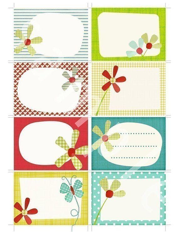 Para uso personal! Imprimir tu propio SCRAPBOOK suministros en casa con este juego de tarjetas para imprimir de 3,5 x 2.5. Perfecto para