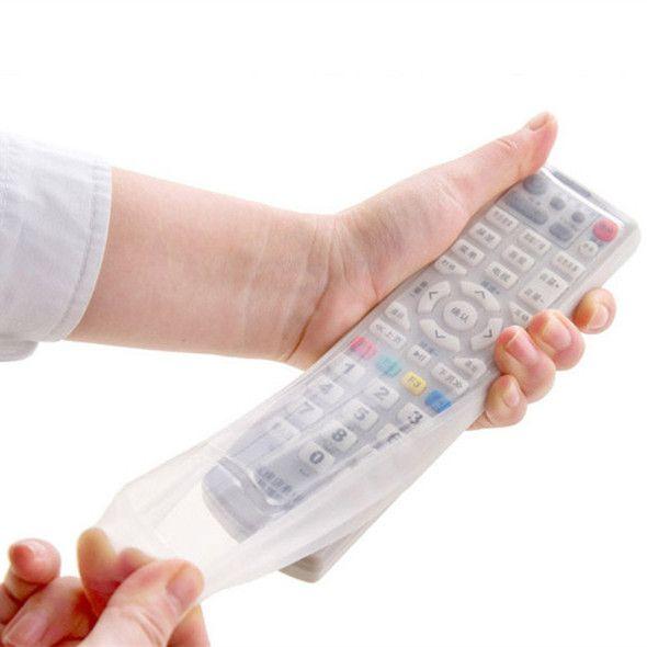 Silicona TV Control Remoto Cubierta de Polvo Bolsa de Almacenamiento Organizador Titular de Protección Del Hogar Elemento de Engranaje Stuff Accesorios