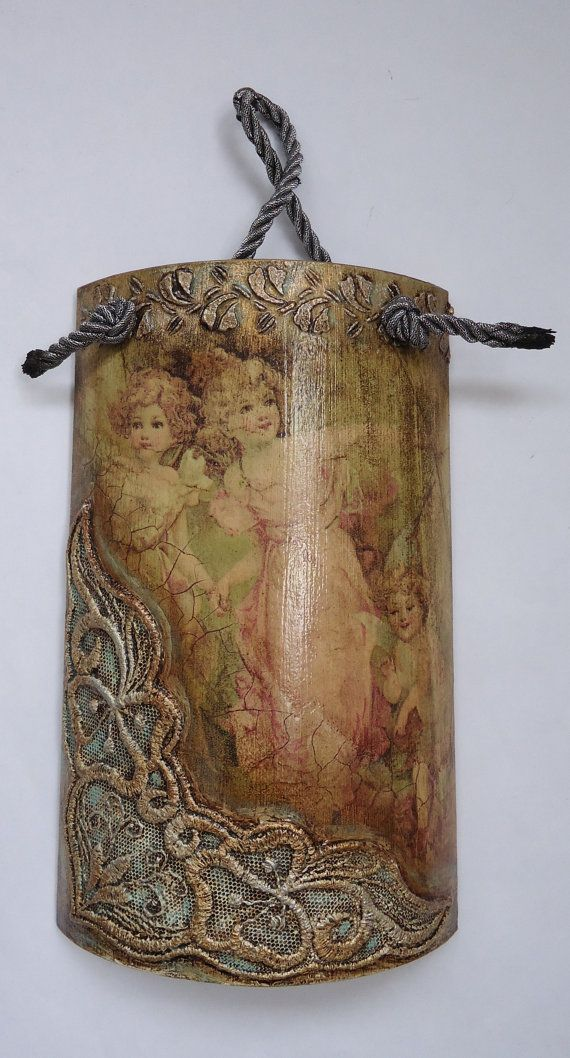 Pano Angel breeze mural on tile decoupage wall by VesDecoupage, $29.00