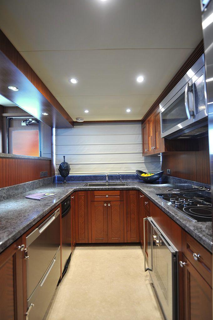 Ocean Alexander 90 Galley Custom Yacht Interior Design Destry Darr Designs