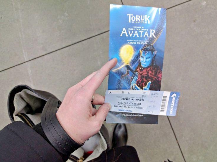 Cirque Du Soleil TORUK ticket and pamphlet
