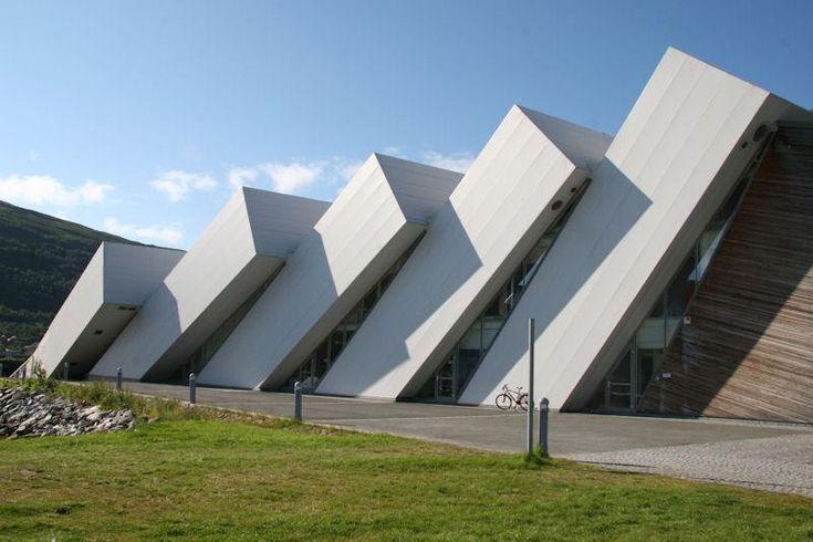 Polaria museum (Dominoes) building - Tromso, Norway ...