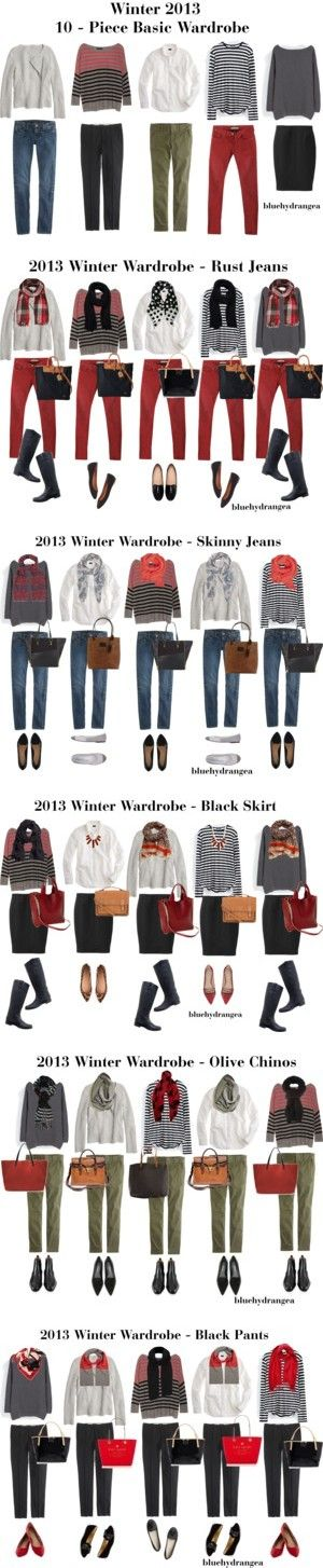 Winter 2013 10 - Piece Basic Wardrobe by bluehydrangea on Polyvore featuring Madewell, Line, J.Crew, Maison Scotch, Zara, Uniqlo, Pieces, Dooney & Bourke, Aéropostale and Kate Spade