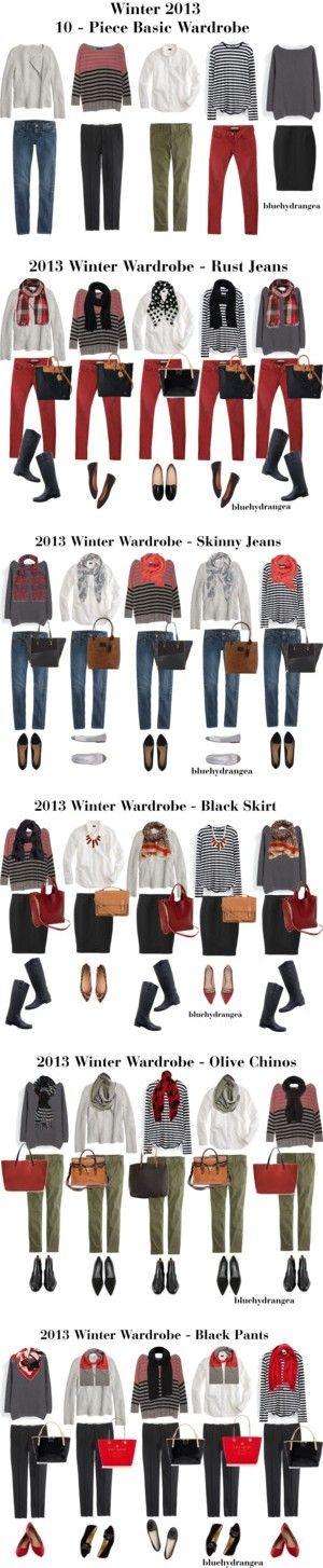 Winter 2013 10 - Piece Basic Wardrobe by bluehydrangea on Polyvore featuring Madewell, Line, J.Crew, Maison Scotch, Zara, Uniqlo, Pieces, Dooney & Bourke, Aéropostale and Kate Spade