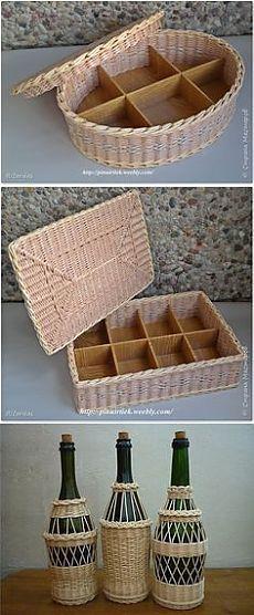 paper knitting, baskets, ... в Pinterest | Корзина Для Газет, Ткачество и…