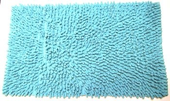 $31.49 Aqua Giant Loop Rug Bath Mat Bathroom 100% Cotton Retro From Unknown  Get it