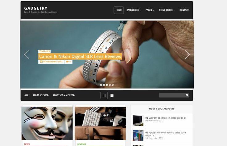 Free WordPress Theme Gadgetry