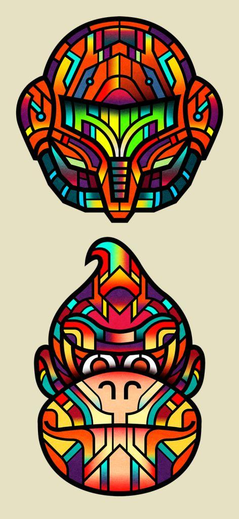 """Van Orton Design é uma grupo de designers com sede em Turim, na Itália. Em sua coleção de trabalhos, eles renovaram nas cores e formas cartazes dos filmes do cineasta americano Stanley Kubrick: """"The Shinning"""" e """"2001: Uma Odisséia no Espaço"""" e de James Cameron: """"O Exterminador do Futuro"""". Além disso, eles recriaram os super-heróisLeia Mais"""