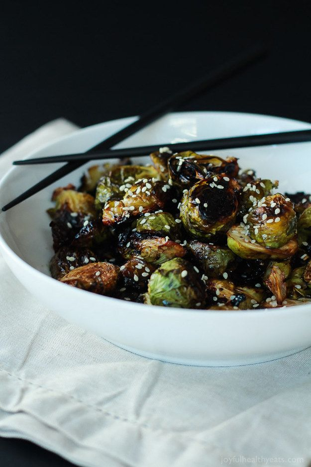 Honey-Roasted Soy Brussels Sprouts