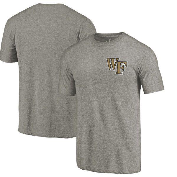 Wake Forest Demon Deacons Fanatics Branded Left Chest Distressed Logo Tri-Blend T-Shirt - Gray - $24.99