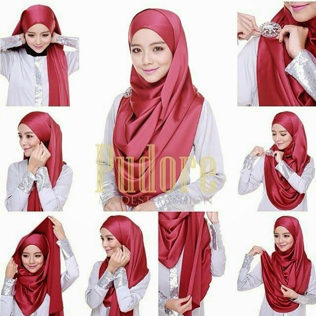 HIJAB FASHION INSPIRATION : Gorgeous & Beautiful Hijab Tutorial