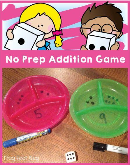 No Prep Addition Game - Frog Spot