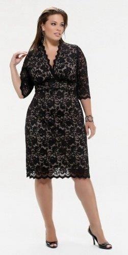 Женская форма вечернее платье на полных