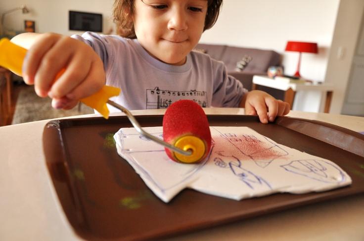 Estéfi Machado: Engravings junior  Holdup! Gotta remember the cookie sheet work spaceCookies Sheet, Kids Diy, Estéfi Мачадо, Гравюры Mirin, Prints, Estéfi Machado, Gravura Mirin, Papierz Estéfi