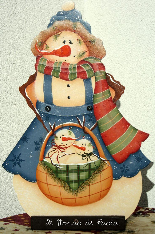 Ready For Winter dipinto a mano da un pattern di Renee Mullins