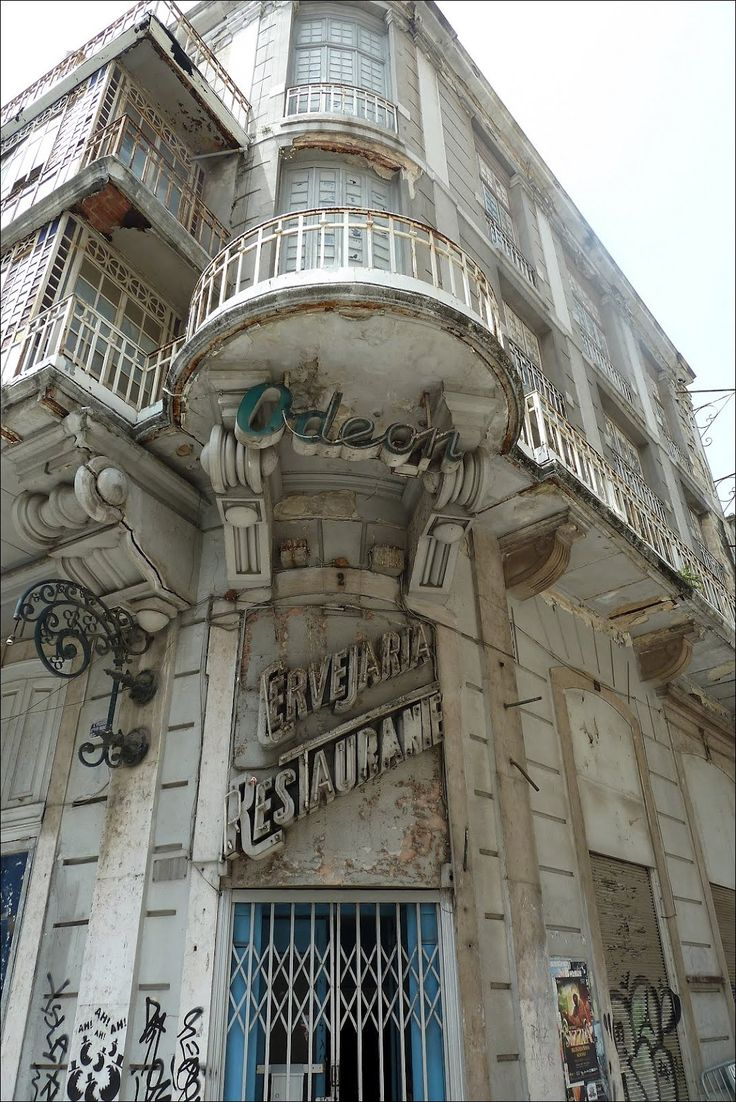 The abandoned Odeon Cinema in Lisbon, Portugal