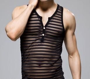 Mens Sexy Smooth Lace Mesh Tank Top, $24. Cool, cool, cool...this is the cool stuff. Versatile; outerwear in summer, housewear in winter. Fresh from Asia (China, mainland). Find it here: http://www.aliexpress.com/item/2013-Fashion-Hot-Sale-Men-s-Sexy-Smooth-Transparent-Lace-N2N-Men-Mesh-Underwear-Tank-Top/1048151975.html?