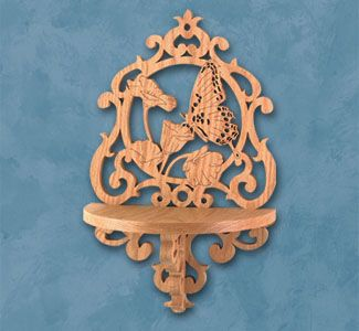 Butterfly Shelf Scroll Saw Pattern