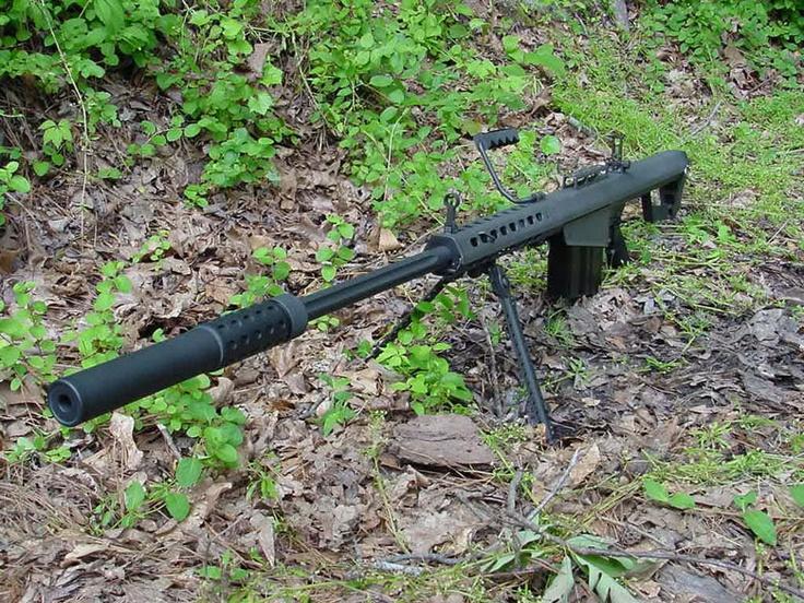 Supresor SWR Omega X-50. sobre Barrett M-82 .50