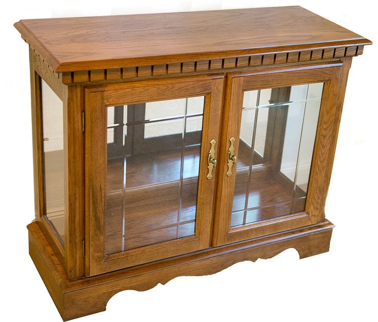 Traditional Oak Display Cabinet