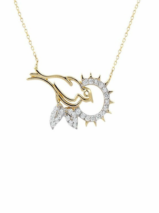 Gold Bird/Altın Kuş Kolye www.ferreguer.com