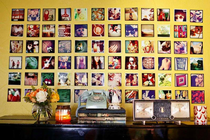 How to use your photos to make your own Instagram Wall!  I am so doing this!