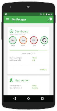 UrbanPotager - mobile UI landing page dashboard