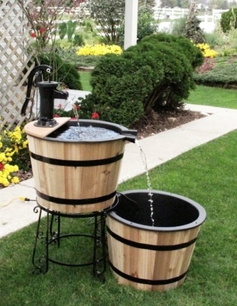 26 Best Images About Whiskey Barrel Fountains On Pinterest
