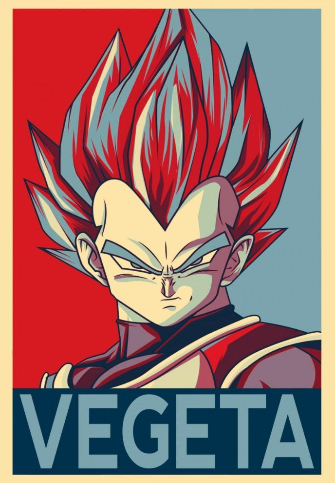 Pop Art Vegeta From Dragonball Z Anime Dragon Ball Super Dragon Ball Artwork Dragon Ball Art
