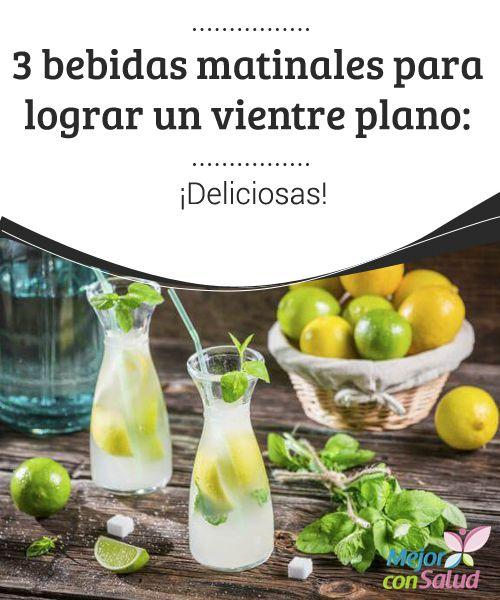3 bebidas matinales para lograr un vientre plano: ¡Deliciosas!  Una de las preocupaciones más comunes tanto en hombres como en mujeres es poder eliminar ese exceso de grasa que se acumula en el vientre.