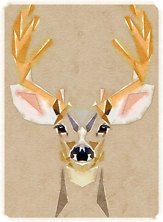 Deer - so simple in neutral shades, love!
